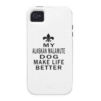 My Alaskan Malamute Dog Make Life Better iPhone 4/4S Case