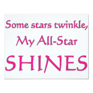 My all-star shines. Proud parent of an all-star Invites
