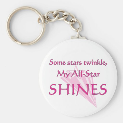 My all-star shines: Proud parent of an all-star Key Chain