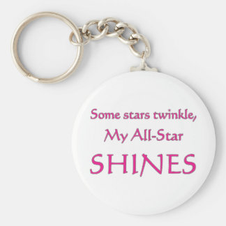 My all-star shines. Proud parent of an all-star Keychain