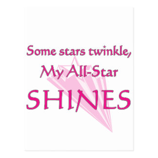 My all-star shines: Proud parent of an all-star Postcard