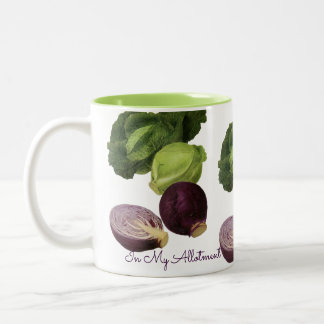 My Allotment Cabbages Two-Tone Coffee Mug