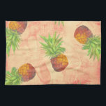 """My Aloha Tropical Pineapples Flower Garden Towel<br><div class=""""desc"""">This retro Vintage Pineapple pattern with animal prints is for all Aloha and Exotic Vintage Lovers. A beautiful old fashioned and tropic Design. Perfect for your summer, for your party. It is the perfect gift for her or him, for the stylish lady, perfect for her birthday, sweet sixteen favor, bridal...</div>"""