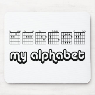 MY ALPHABET (CHORDS) MOUSE PAD