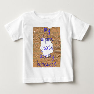My Alpine Goats Ate My Homework T Shirt