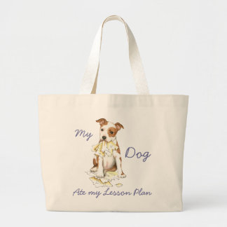 My Am Staff Ate My Lesson Plan Large Tote Bag