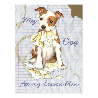 My Am Staff Ate My Lesson Plan Postcard