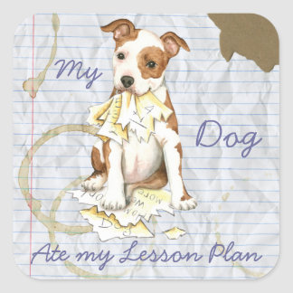 My Am Staff Ate My Lesson Plan Square Sticker