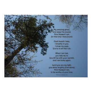 My Amazing Grace Poem Posters