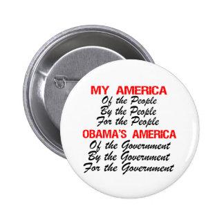 My America - Obama s America Pinback Button