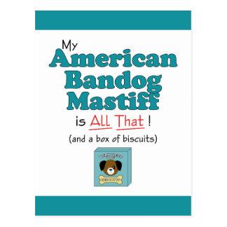 My American Bandog Mastiff is All That! Postcard