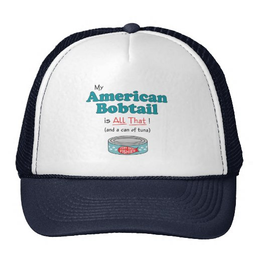 My American Bobtail is All That! Funny Kitty Mesh Hat