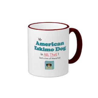 My American Eskimo Dog is All That! Ringer Coffee Mug