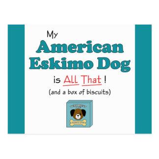 My American Eskimo Dog is All That! Postcard