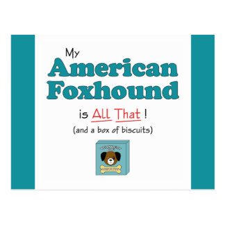 My American Foxhound is All That! Postcard