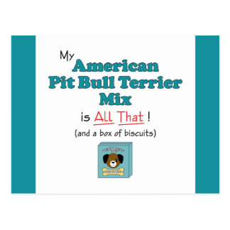 My American Pit Bull Terrier Mix is All That! Postcard