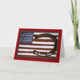 My American Soldier, Customizable card