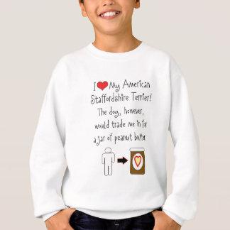 My American Staffordshire Loves Peanut Butter Sweatshirt