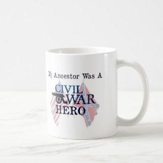 """""""My Ancestor Was A Civil War Hero"""" mug"""