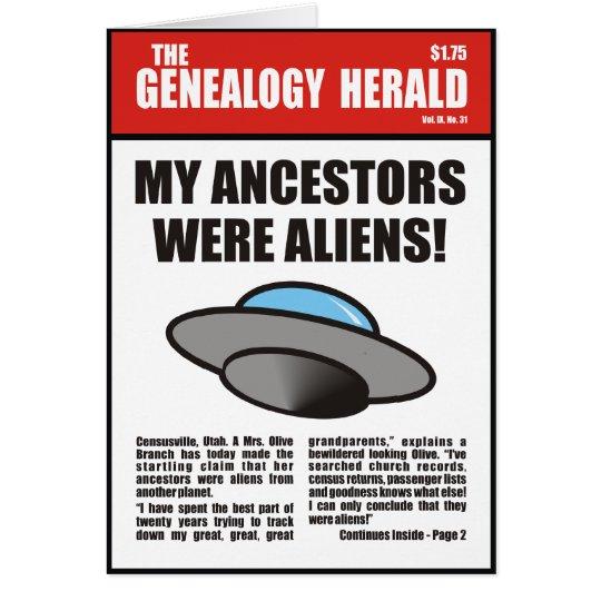 My Ancestors Were Aliens! Card