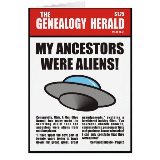 My Ancestors Were Aliens! Greeting Card