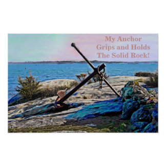 My Anchor Holds Oil Painting Poster