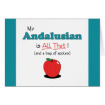 My Andalusian is All That! Funny Horse Greeting Card