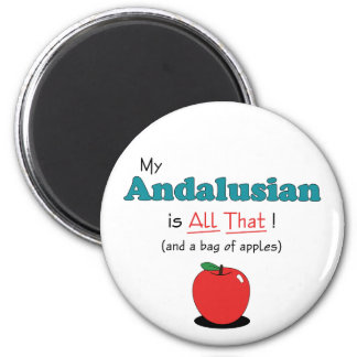 My Andalusian is All That! Funny Horse Fridge Magnets