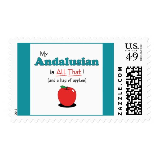 My Andalusian is All That! Funny Horse Postage Stamp