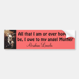 my angel mother bumper sticker
