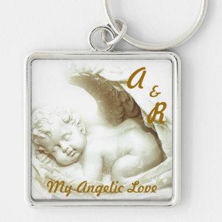 My Angelic Love Monogram Key Chain-Customize