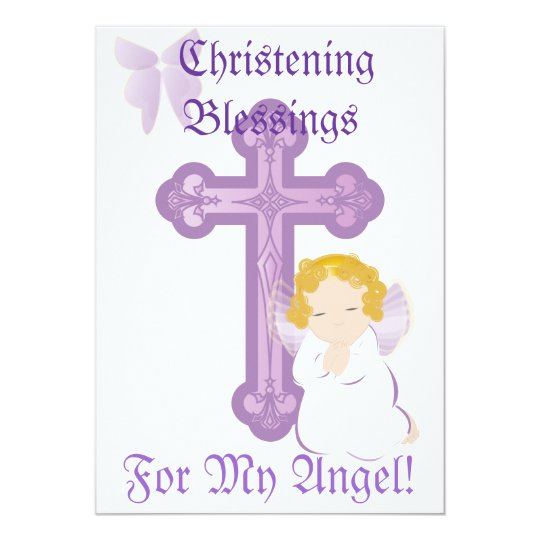 My Angel's Christening Blessings-Customize Card