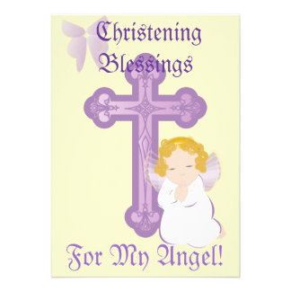 My Angel's Christening Blessings-Customize Personalized Announcement