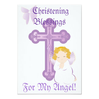 My Angel's Christening Blessings-Customize Personalized Announcements