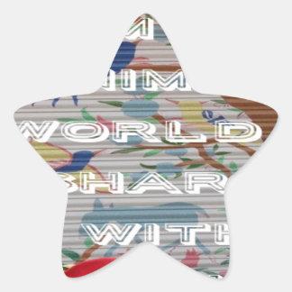 My animals world valentine.png star sticker