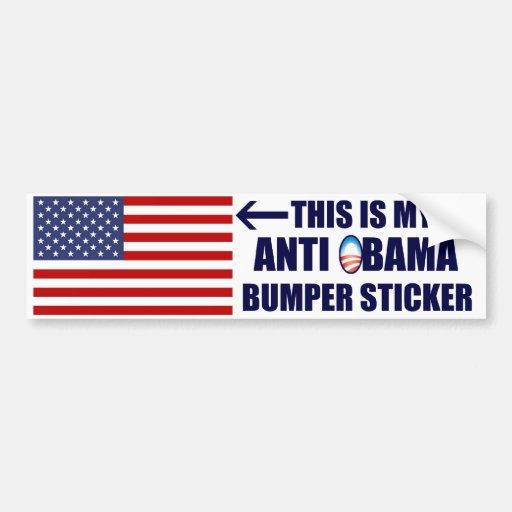 My Anti Obama Bumper Sticker
