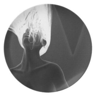 My Anxiety - Self Portrait Melamine Plate