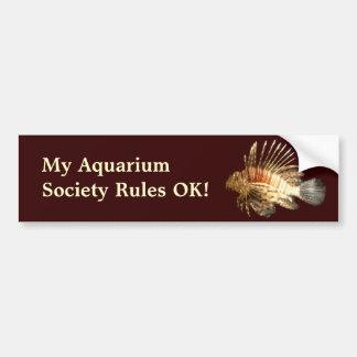 My Aquarium Society Rules! Car Bumper Sticker
