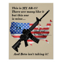 My AR15 2nd Amendment Shall Not Be Infringed Poster