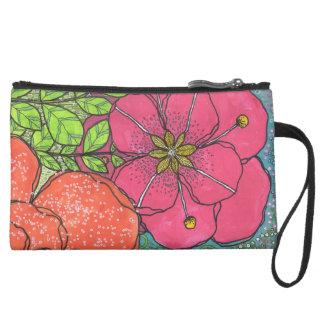 My Artful Life Mini-Clutch Suede Wristlet Wallet