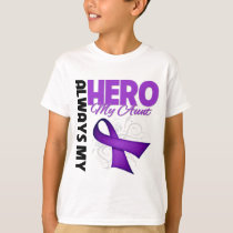 My Aunt Always My Hero - Purple Ribbon T-Shirt