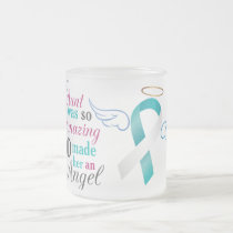 My Aunt an Angel – Cervical Cancer Frosted Glass Coffee Mug