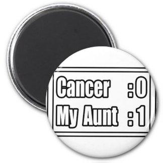 My Aunt Beat Cancer (Scoreboard) Refrigerator Magnet
