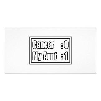 My Aunt Beat Cancer (Scoreboard) Photo Greeting Card