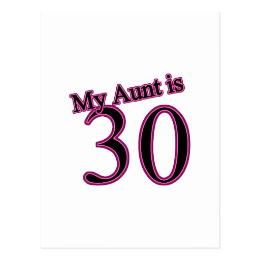 My Aunt is 30 Post Cards