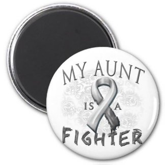 My Aunt Is A Fighter Grey 2 Inch Round Magnet