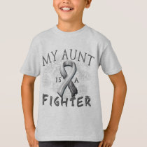 My Aunt Is A Fighter Grey T-Shirt