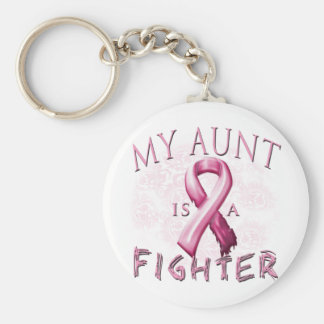 My Aunt is a Fighter Pink Keychain
