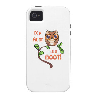 MY AUNT IS A HOOT Case-Mate iPhone 4 CASES