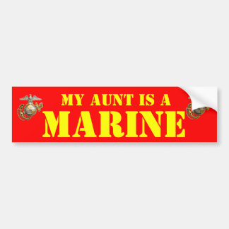 MY AUNT IS A MARINE CAR BUMPER STICKER